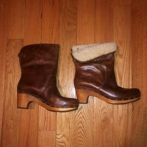 Wood Platform Ugg Boots